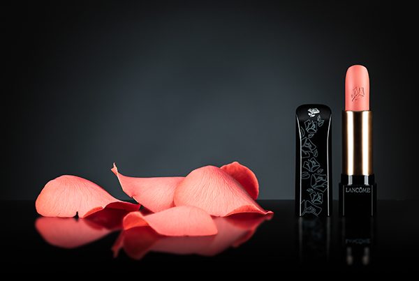Lancome Lipstick with Rose Petals