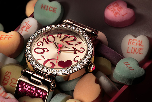 Betsey Johnson watch in candy hearts